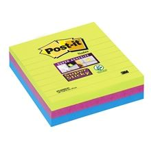 Bločky Post-it Super Sticky, barevné, 101 x 101 mm